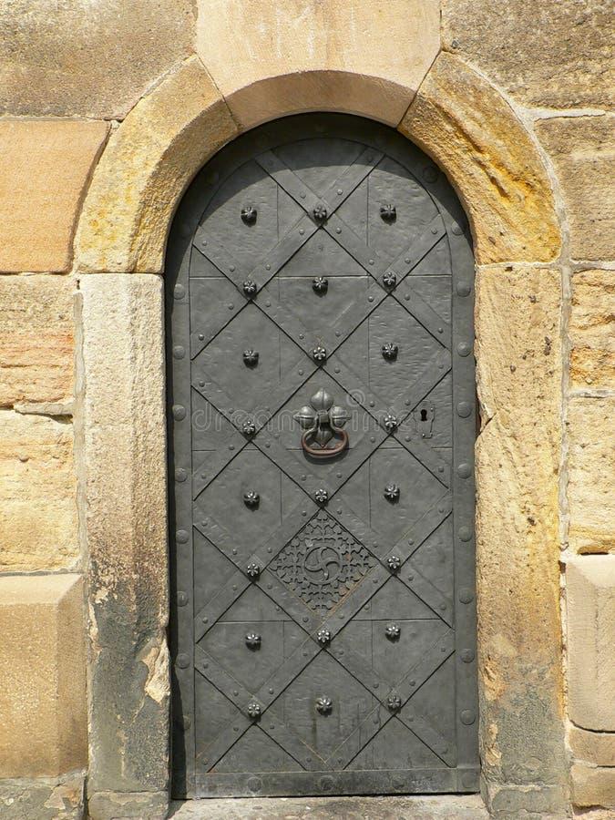 starożytny drzwi żelaza zdjęcie stock