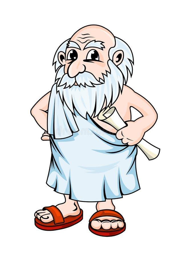starożytny filozof royalty ilustracja