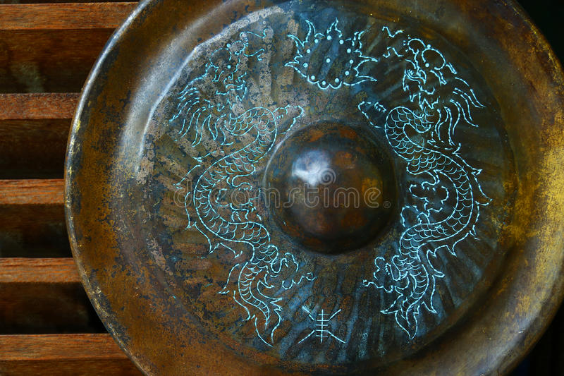 starożytny gong obraz stock