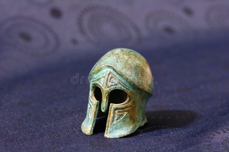 starożytny grecki hełm bojowy fotografia royalty free