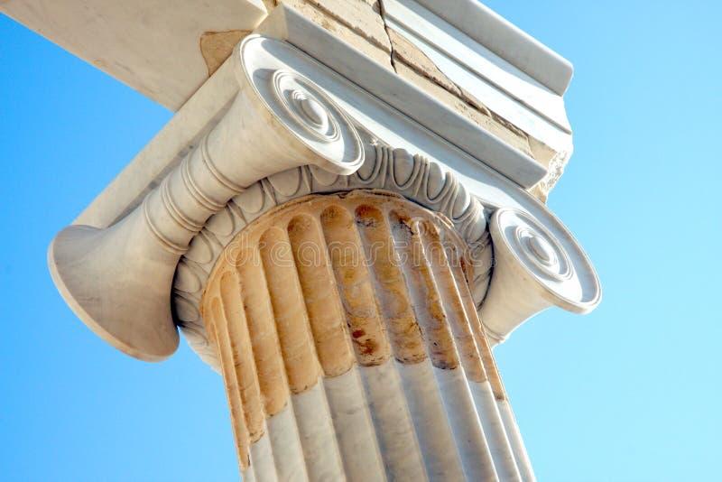 Starożytny Grek architektury szczegół Ateny - akropol - obraz royalty free