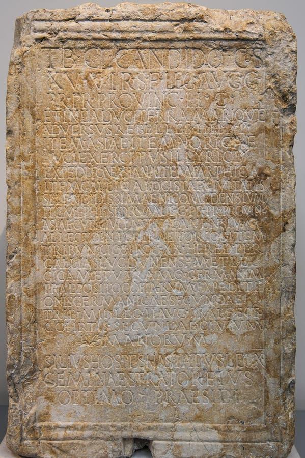 Starożytny Grek kamienna pastylka obrazy royalty free