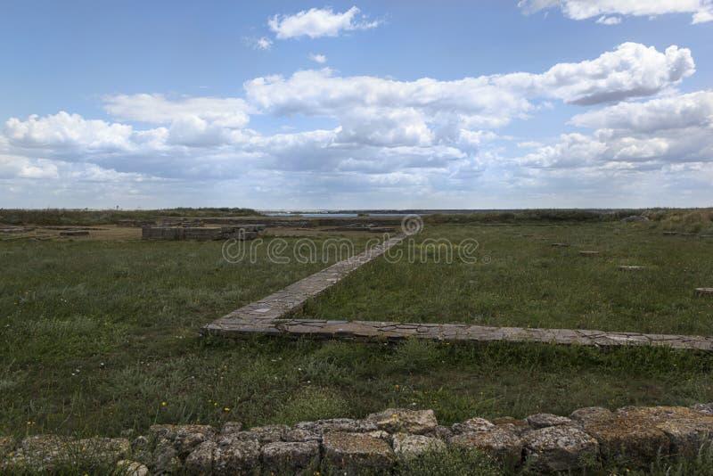 Starożytny Grek wioski ruiny antyczny Olbia północny wybrzeże Czarny morze obrazy royalty free
