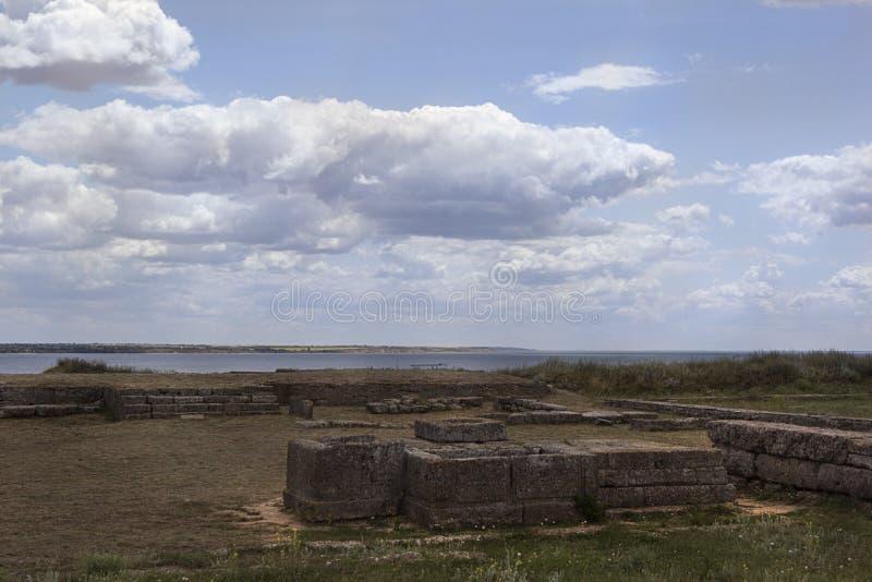 Starożytny Grek wioski ruiny antyczny Olbia północny wybrzeże Czarny morze obrazy stock
