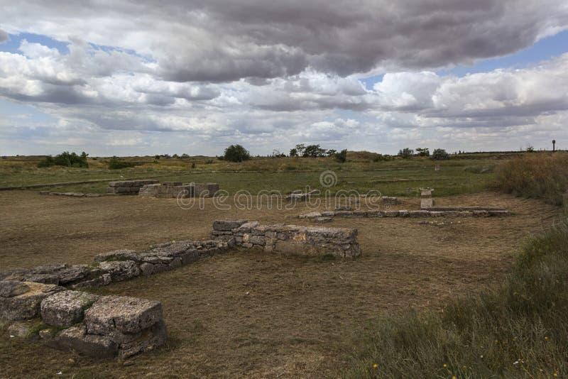 Starożytny Grek wioski ruiny antyczny Olbia północny wybrzeże Czarny morze zdjęcia stock