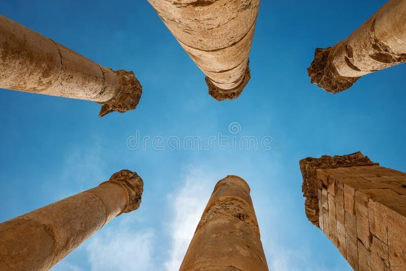 starożytny jerash Ruiny rzymianina miasto Gerasa, Jordania fotografia royalty free