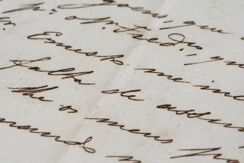 starożytny list obrazy royalty free