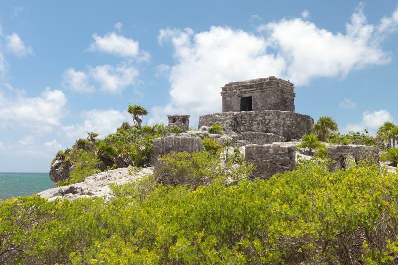 starożytny majów rujnuje Meksyk Tulum zdjęcie stock