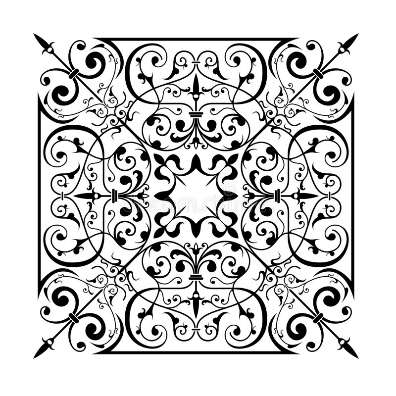 starożytny ornament royalty ilustracja