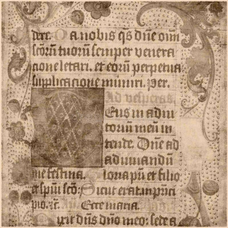 starożytny tekst pergaminowy papieru ilustracja wektor
