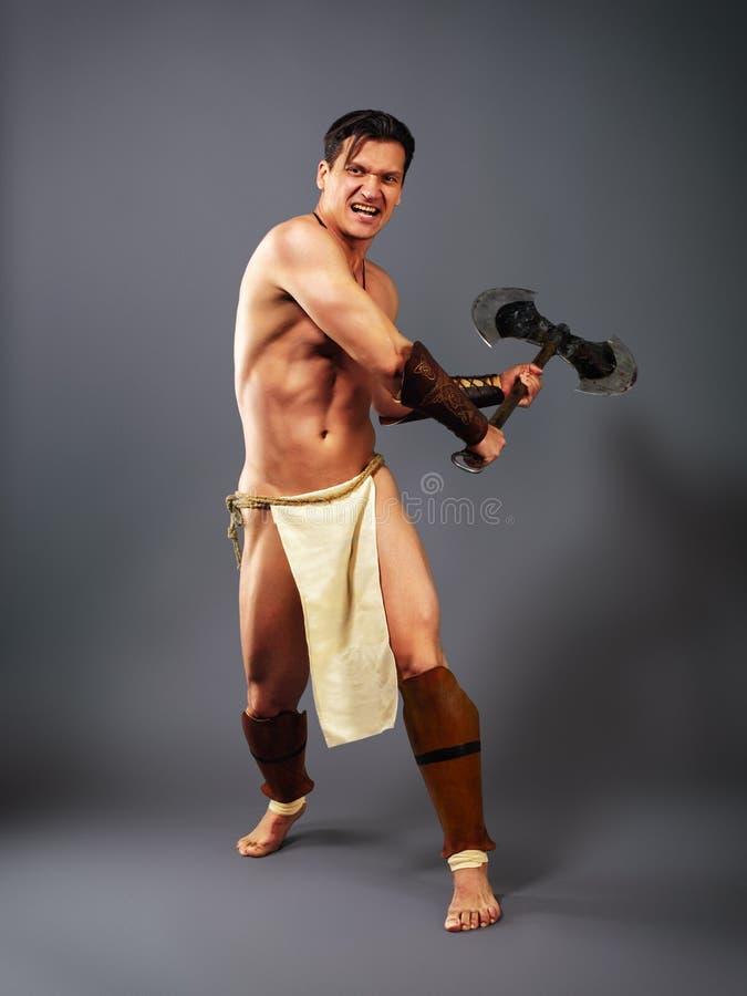 starożytny wojownik Kopnięcie cioska zdjęcie stock