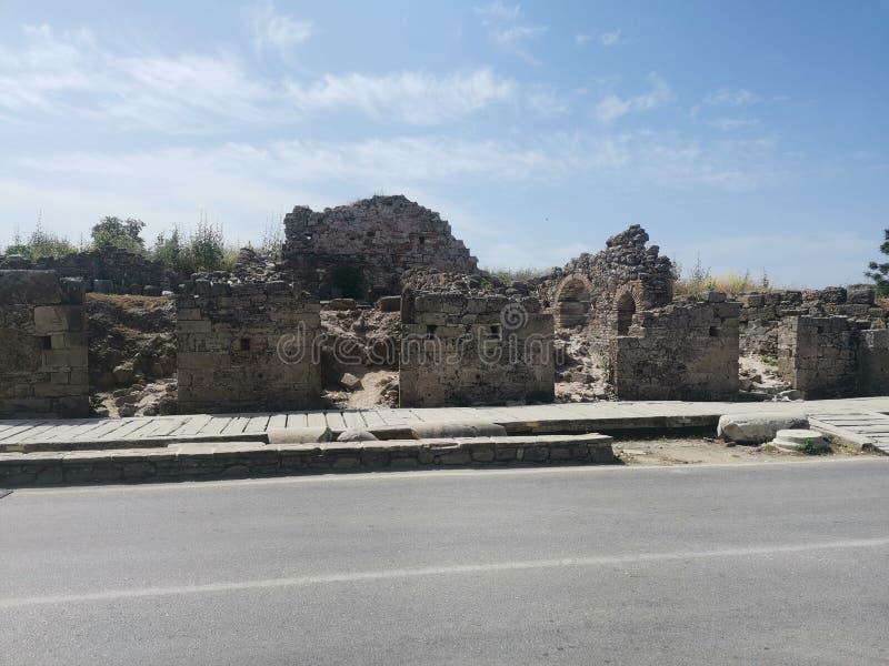 Starożytnych Grków sklepy i domy zdjęcie stock