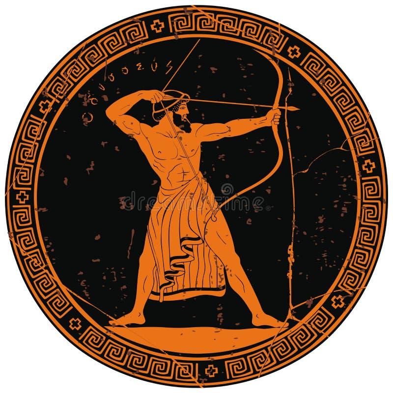 starogreckie wojownik royalty ilustracja