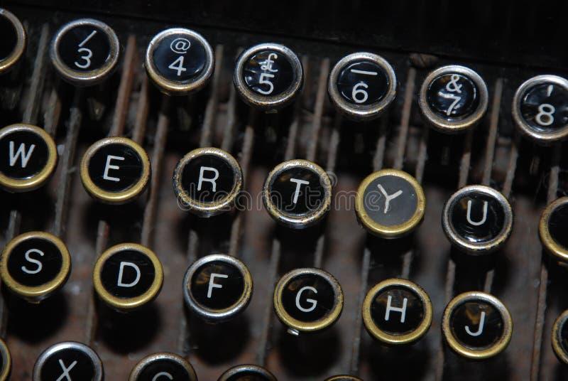 Staromodnej maszyny do pisania kluczowa deska zdjęcia royalty free
