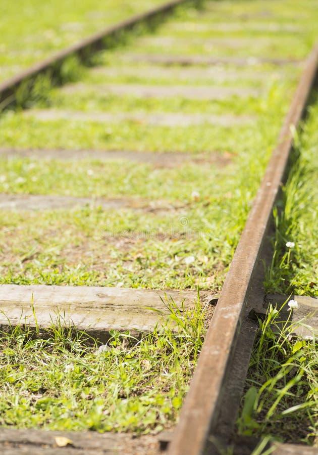 Staromodni kolejowi ślada fotografia stock