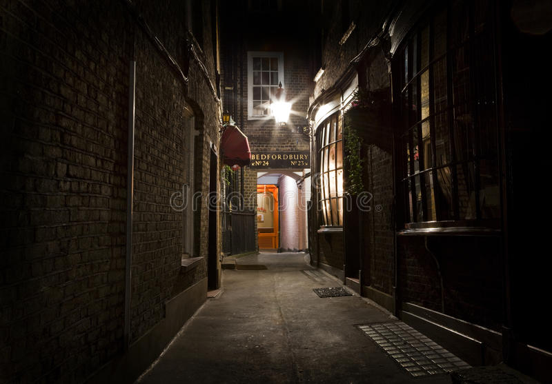 Staromodny Londyński Alleyway obraz stock