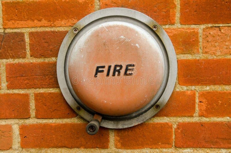 Staromodny pożarniczy alarm zdjęcia stock