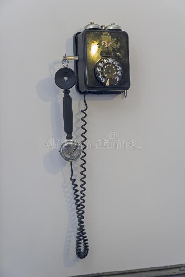 Staromodny telefonu set obraz stock