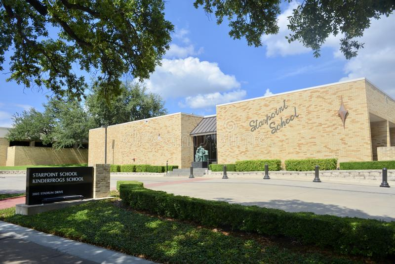 Starpoint skola på TCU, Fort Worth, Texas arkivbilder