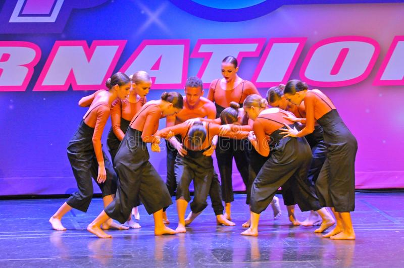 Starpower International Talent Competition. Teenagers performing dance program at the Starpower International Talent Competition in the USA royalty free stock photos