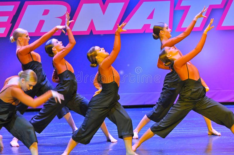Starpower International Talent Competition, USA. Teenagers performing dance program at the Starpower International Talent Competition stock photography