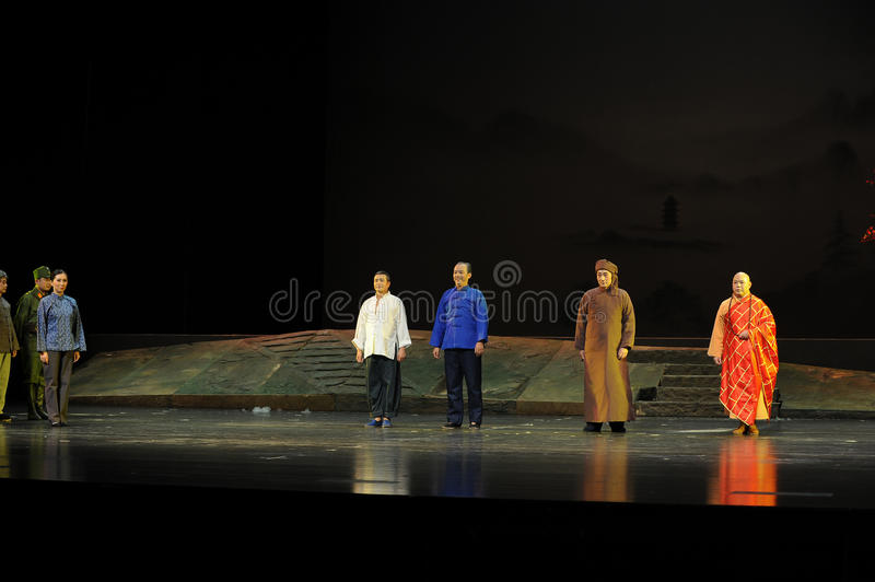 Starring curtain call- Jiangxi opera a steelyard. Jiangxi opera a steelyard is adapted from a true story: the last century fortys, the protagonists father runs royalty free stock photography