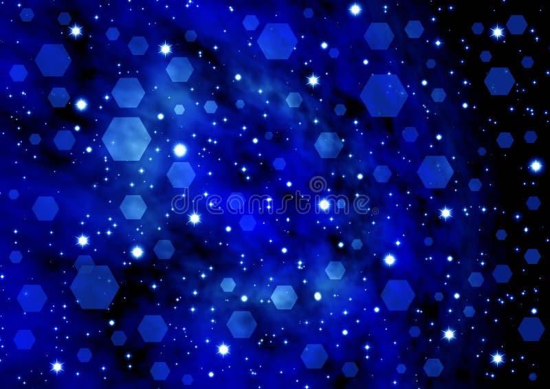 starry abstraktionbakgrund royaltyfri illustrationer