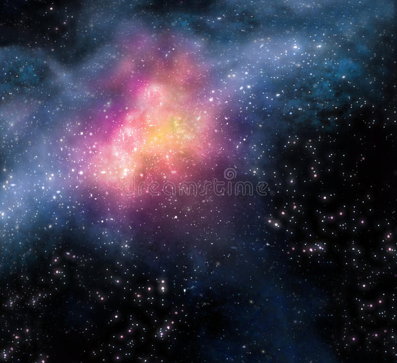 Download Starry Background Of Deep Outer Space Stock Illustration - Illustration of background, shiny: 15451487