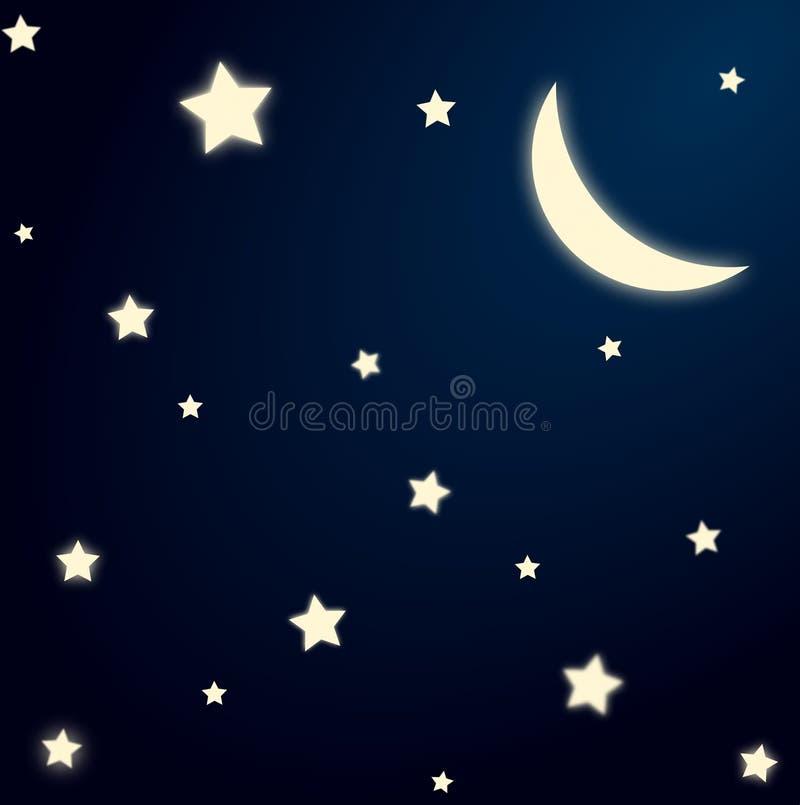 starry bakgrundsnatt stock illustrationer