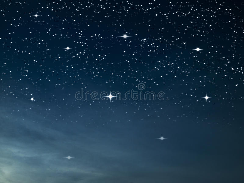 starry blå mörk natt