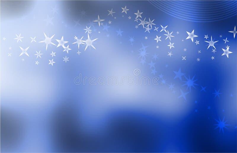 Starry blue background vector illustration