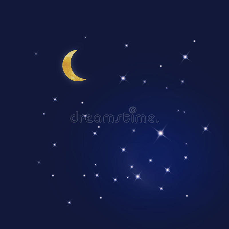 Download Starry blue sky stock illustration. Image of luminous - 9465805