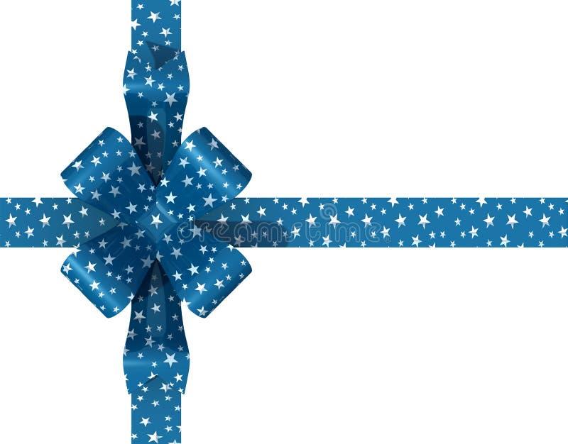 Starry bow stock illustration
