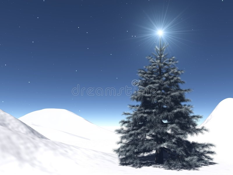 Starry Christmas royalty free stock images