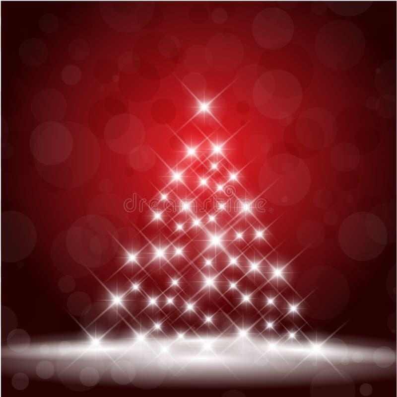 Starry Christmas tree royalty free illustration