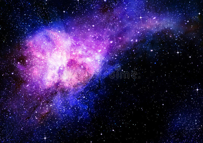 Download Starry Deep Outer Space Nebual And Galaxy Stock Illustration - Image: 25742161