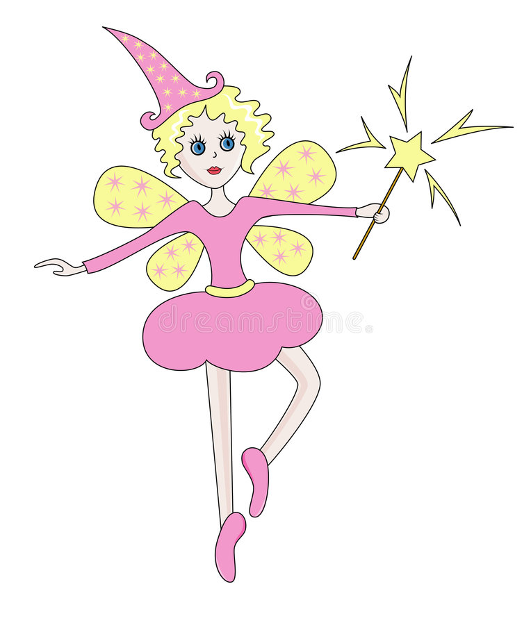 Download Starry Fairy In A Rosy Dress Stock Vector - Image: 7666220