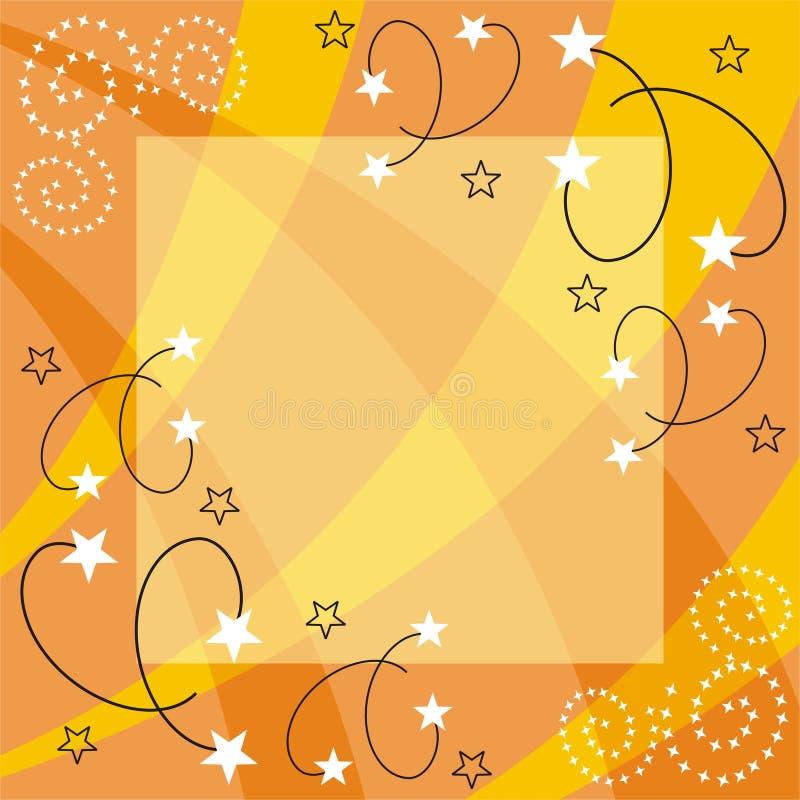 Starry frame vector illustration