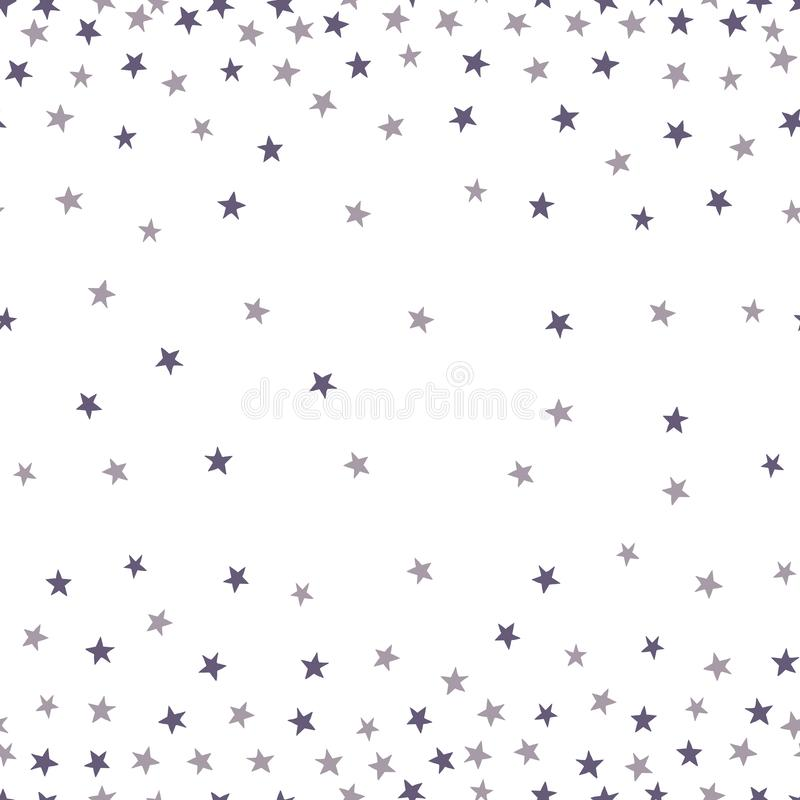 Starry gradient sky seamless pattern vector illustration
