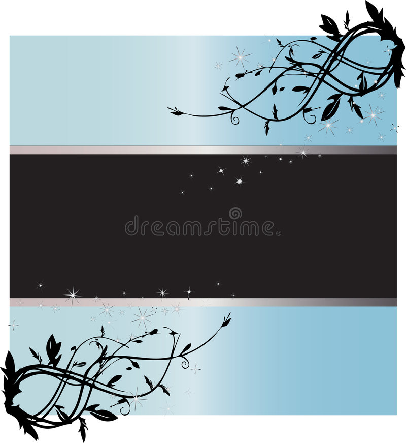 Download Starry Light Blue Text Frame Stock Vector - Image: 5896139