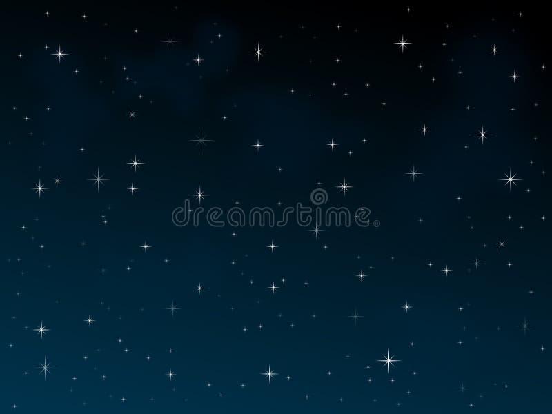 starry natt 2 stock illustrationer