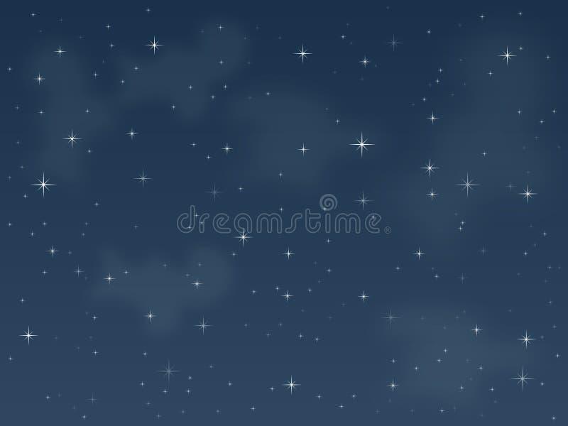 starry natt 3 stock illustrationer
