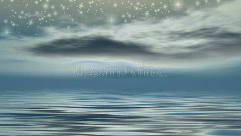starry natt stock illustrationer