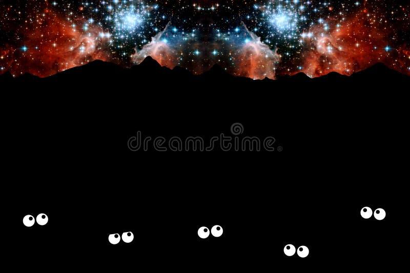 starry natt royaltyfri illustrationer