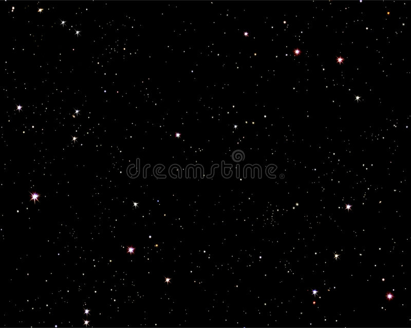 starry natt stock illustrationer