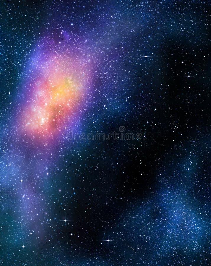 starry nebual ytterkant avstånd för djup galax royaltyfri illustrationer