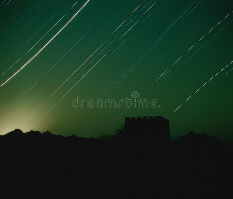 Starry night royalty free stock photo