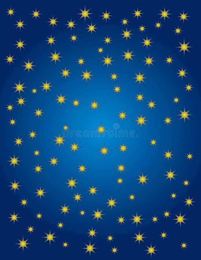 Starry night royalty free illustration