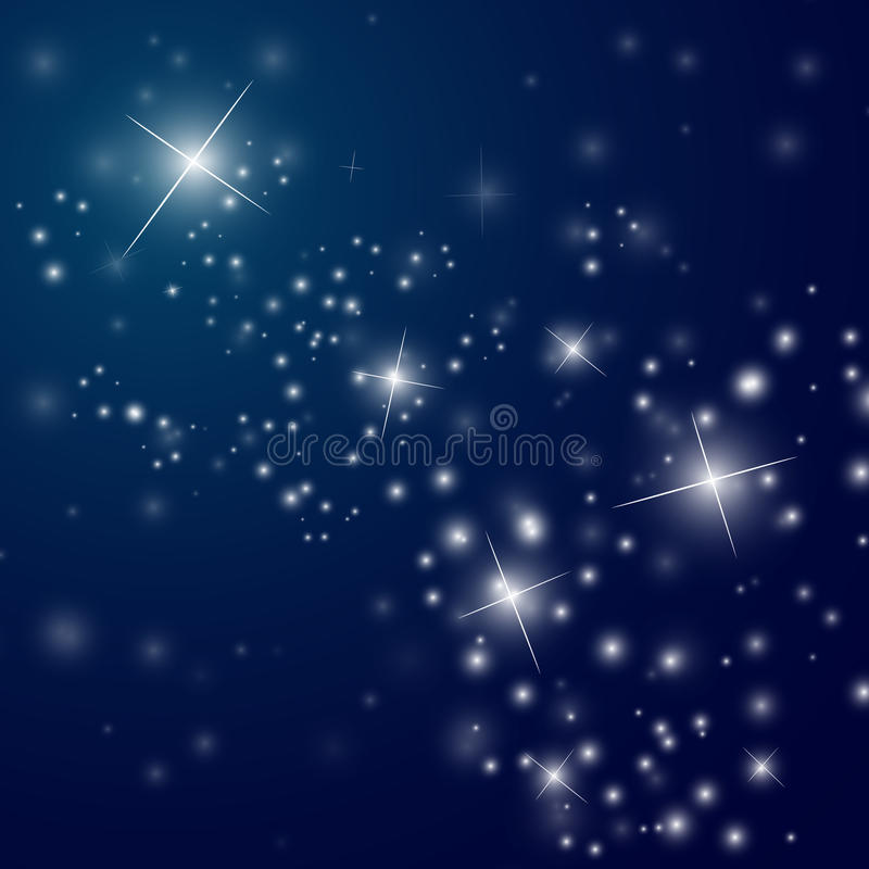 Starry night sky vector illustration