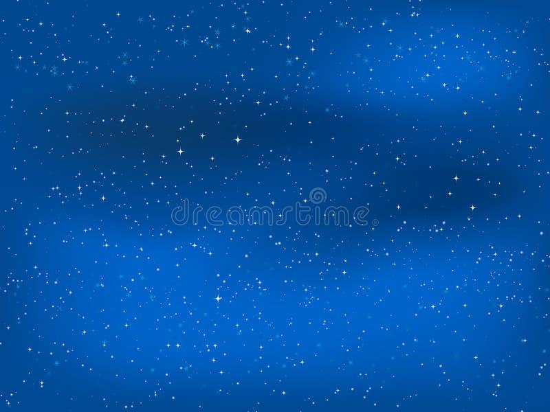 Starry night sky royalty free illustration